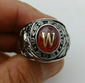 US Military Academy West Point Class Rings 2021,Ruby Stone Celestrium ,Size 10.5