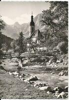 Ansichtskarte Ramsau - Ramsauer Kircherl mit Reiteralpe - schwarz/weiß