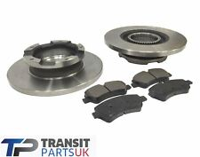 FORD TRANSIT MK8 CUSTOM REAR BRAKE PADS DISCS 2.2 FWD 2012 ON 250 TO 470 SERIES