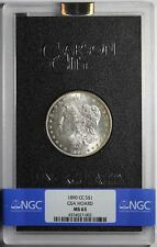 1890-CC Morgan Silver Dollar GSA NGC MS63 with Box and COA
