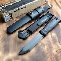 Mora Garberg Black Coated Carbon Steel Blade Fixed Blade Knife M-13147
