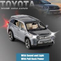 2018 Toyota Highlander SUV 1:32 Diecast Model Car Toy Collection Sound&Light