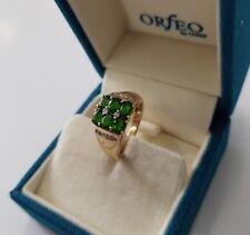 585 Gelbgold Smaragd,Diamant Ring