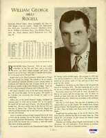 Bill Rogell Psa Dna Coa Autograph 1933 Who`s Who 8x10 Photo Page Signed