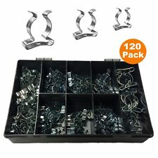 120 x Assorted  Tool  Spring Terry Clips  Heavy Duty Storage  / Shed Garage