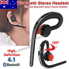 New 4.1 Bluetooth Headset Hands Free Handsfree for Smartphone iPhone X 8 Android