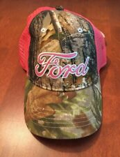 Ford Trucks Womens Realtree Camouflage Pink Strapback Hat Ball Cap One Size