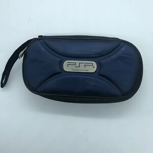Sony PSP Playstation Portable Console Game Travel Zipper Case Blue