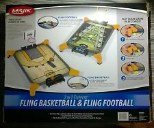 Majik 2 in 1 Flipperz Fling Basketball and Fling Football Tabletop Two Games NEW