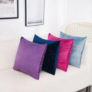 Decorative Sofa Waist Pillowcase Solid Velvet Pillow Cushion Cover Home Supplies