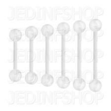 Retainer Hider - Straight Bar | 1.2mm (16g) - 4mm-20mm | BioFlex - Balls Spikes