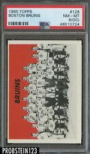 1965 Topps Hockey #128 Boston Bruins PSA 8 (OC) NM-MT
