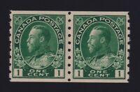 Canada Sc #125 (1912) 1c green Admiral Coil Mint VF H
