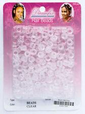 Dreamfix - Haarperlen / Hair Beads  ca. 200 St. Transparent / Perlen ohne Clips