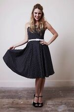 High-end Rockabilly PinUp Swing Summer Dress'The Vintage Closet' Polka Dot 1950s