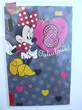 Disney Minnie mouse Birthday card for fabulous age 8 (EIGHT), Hallmark– 11124164