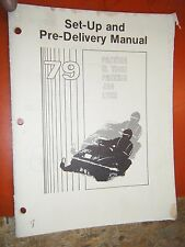 1979 ARCTIC CAT PANTERA EL TIGRE JAG LYNX SNOWMOBILE SET UP DELIVERY MANUAL
