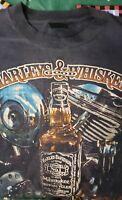 Vintage 3D EMBLEM Harley Davidson TShirt Lg Both Get Better with Age1984 Zepka's