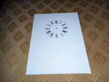 """Carriage Clock Paper Dial - 2""""  M/T - High Gloss White- Face /Clock Parts"""