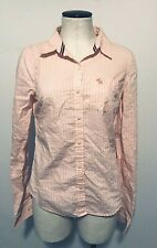 Abercrombie and Fitch Women's Medium Pink stripped Button Up Shirt