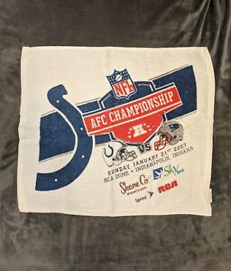 2007 AFC Championship Indianapolis Colts Rally Towel RCA Dome 1/21/07 Patriots