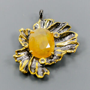 Fine Art Sapphire Pendant Silver 925 Sterling  /NP12552