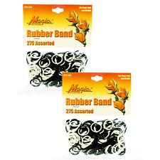 Hair Rubber Bands Ponytails Braids (QTY 550) Black & White - B2G1 FREE!_144-08BW
