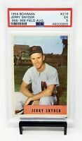 1954 Bowman Washington Senators JERRY SNYDER Vintage Baseball Card PSA 5 EX