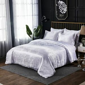 Luxury Classical Style Duvet Cover Set Satin Bedding Quilt Cover Pillowcase