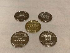(5) Vintage Pokemon Bonina Collectable Trading Coins Nintendo
