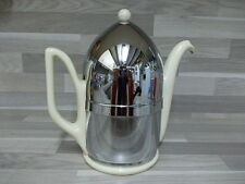Art Deco insulated chrome caffé pot Koninklijke Plateelbakkerij Gouda