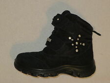NATURINO RainStep Rain Step Girls Boots BLACK Suede ITALY, size EU 27,US 10-10.5