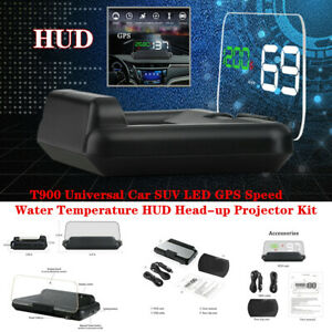 T900 Multifunction HUD Head-up Projector Car LED GPS Speed Water Temperature Kit