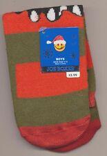 New Boys Halloween Monster Slipper Socks shoe size 6-13 Joe Boxer Non-Skid Dots