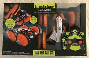 Brookstone Land / Water High Speed Amphibious Stunt R/C Vehicle New