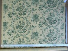 BY YARD SCALAMANDRE VALENCAY GREEN FRENCH TOILE CREAM TAN MSRP$132/Y