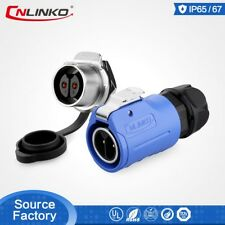 CNLinko M20 2 Pin 20A Waterproof Connector DC Volt Cable Male Female Plug Socket