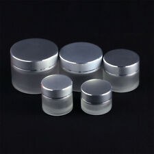 1-10 pcs 5/10/15/30/50g Thick Glass Facial Cream Jar Empty Cosmetic Container