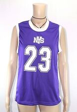 NYS Women`s Size Small* Purple Basketball Practice Jersey #23 100%Polyester--New