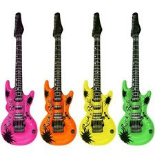 Henbrandt Fancy Dress Rock N Roll Party Inflatable Neon Coloured Guitar Pink