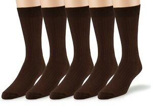 Women's Soft Ribbed Cotton Knit Crew Dress Socks 3-Pack, Plus Size Available