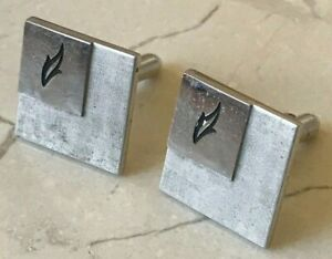 Swank Cufflinks - Square Leaf Accent Design