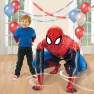 Large Spiderman Airwalker Ironman Batman Helium Balloon