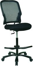 SPACE Seating Big and Tall Dual Layer AirGrid Back Drafting Chair Office Chair