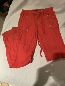 Miss Me Cargo Red Trousers Women's Size Small Pants Wide Leg