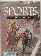 January 10, 1955 Sports Illustrated Magazine Santa Anita Racetrack on Cover