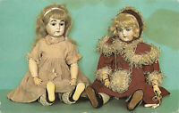 R151446 Tunbridge Wells Museum. Two Bisque and Composition Dolls