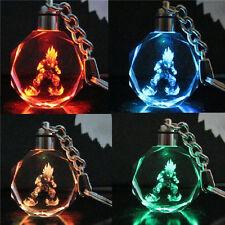 Dragonball Z Son Saiyajin Goku Crystal Key Chain LED light Pendant 1pc♫