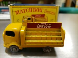 Matchbox Lesney Vintage No. 37 Coca-Cola Lorry In Original Box 1960