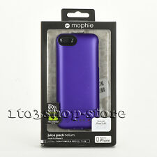 Mophie Juice Pack Helium 1500mha Battery Hard Case for iPhone 5 5s SE Purple NEW